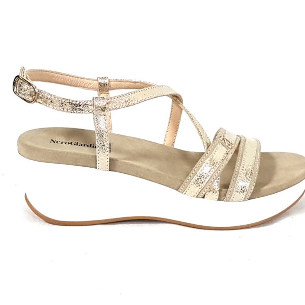 Nero Giardini sandali donna 805700 platino n 36