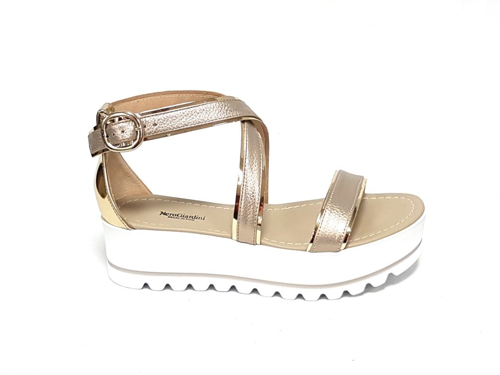 Nero Giardini sandali donna 805871 platino n 40