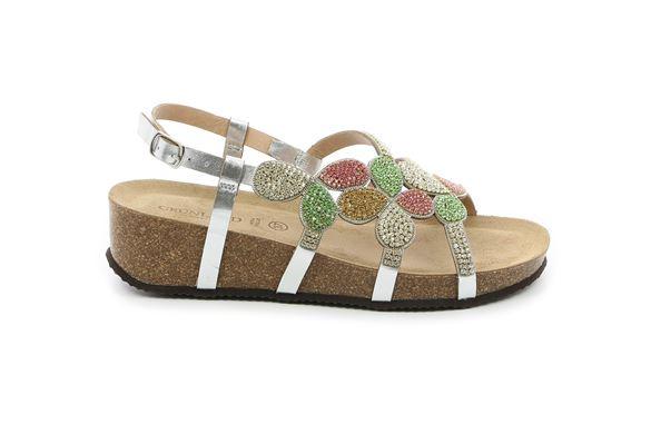 Grunland sandali donna Anin sb0320 argento multi - Calzature Mai 8c661856a89