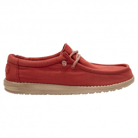 6ab5dc0d62641 Hey Dude wally washed brick rosso - Calzature Mai