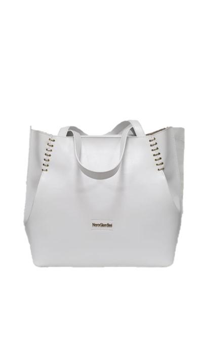 8675f72f32 Nero Giardini borsa donna shopper 945038 bianco made in Italy ...