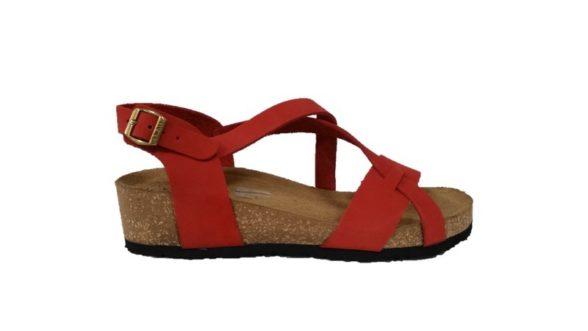 f51fa4ebfcf3da Frau sandali 60g1 rosso nabuk made in Italy - Calzature Mai
