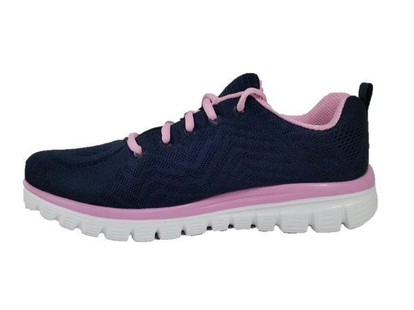 Skechers sneaker donna 12615 nvpk get connected