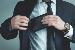 portafoglio portamonete per uomini